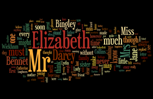Pride and Prejudice Wordle